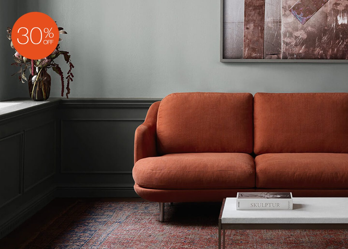 LUNE TWO SEATER SOFA EX-DISPLAY BY FRITZ HANSEN