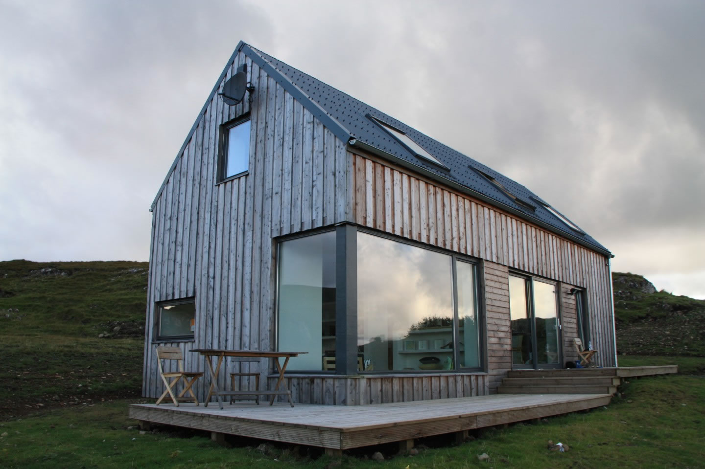 Front View Timber House Isle of Skye Holiday House Rental