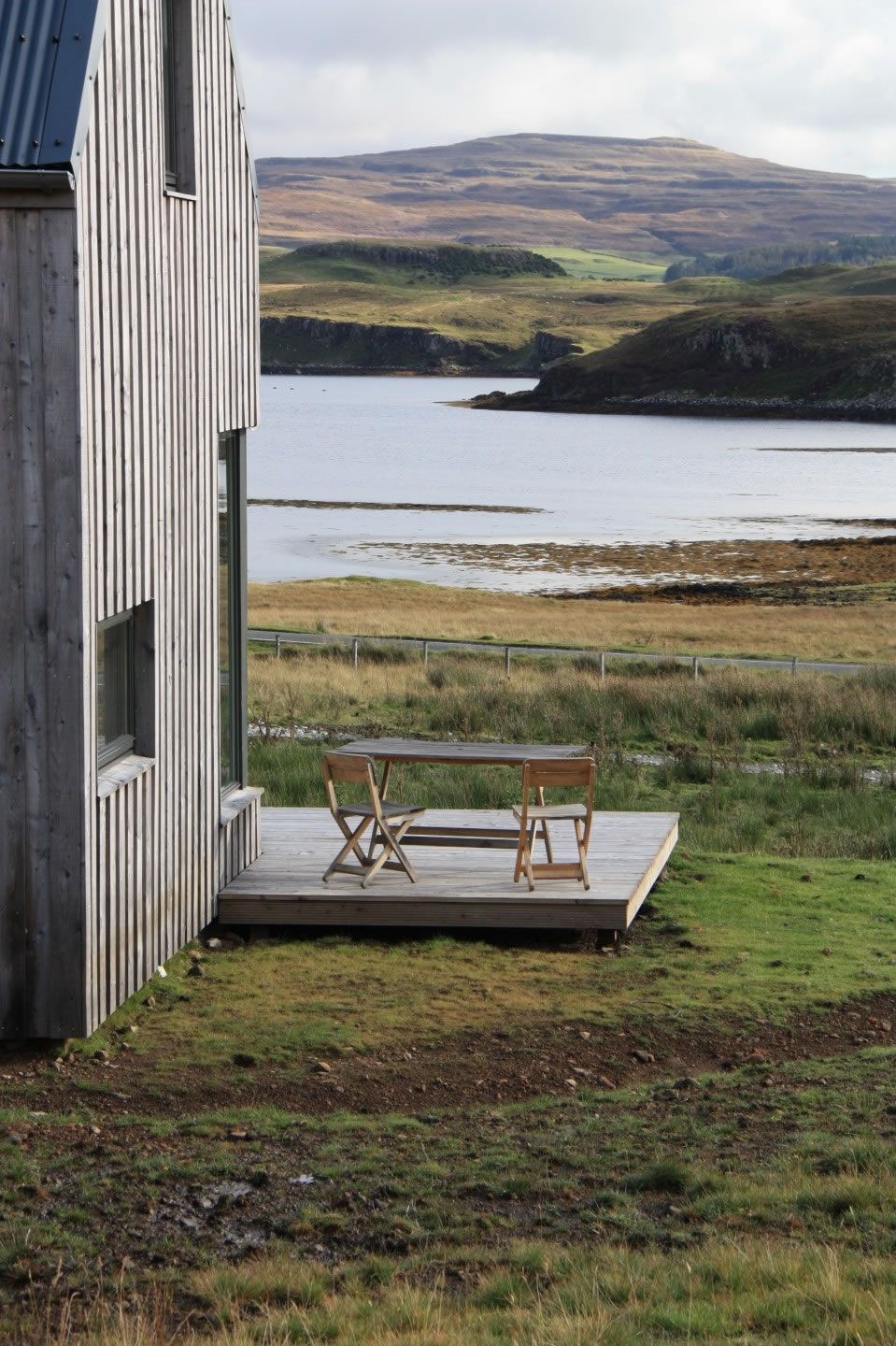 Side View Timber House Isle of Skye Holiday House Rental Loch
