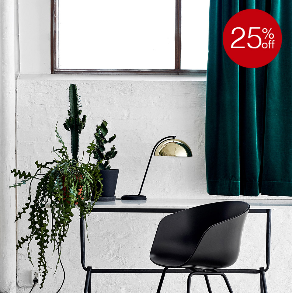 25% OFF CLOCHE TABLE LAMP POLISHED BRASS - IN STOCK