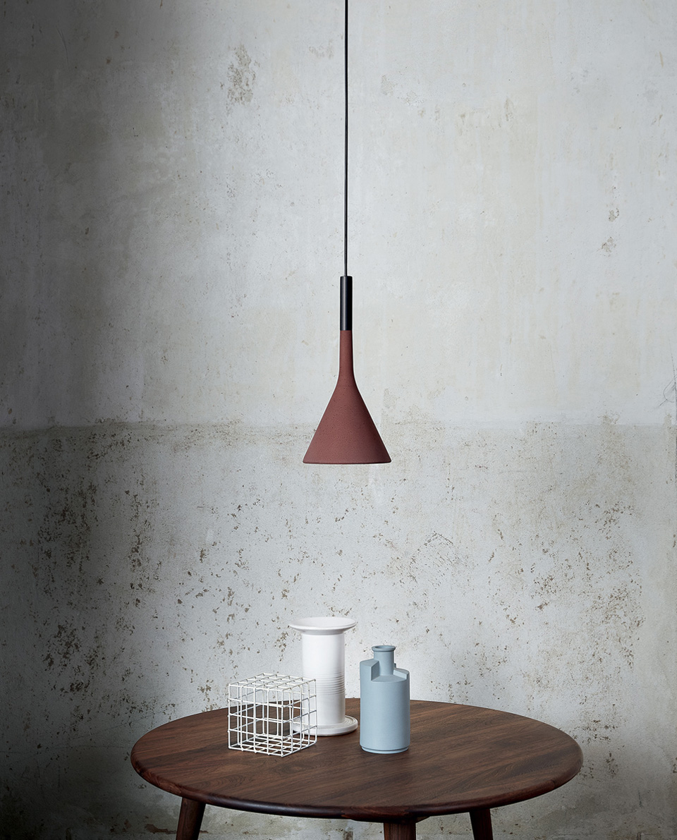 APLOMB CEILING LIGHT RED BY FOSCARINI