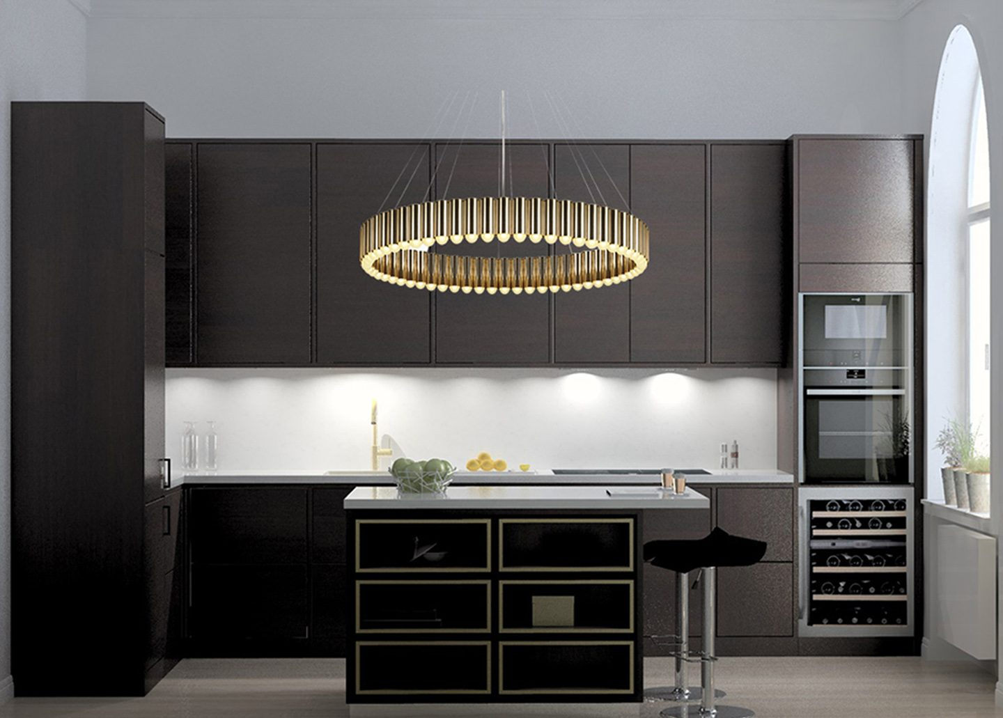 CAROUSEL XL BRASS PENDANT LIGHT BY LEE BROOM