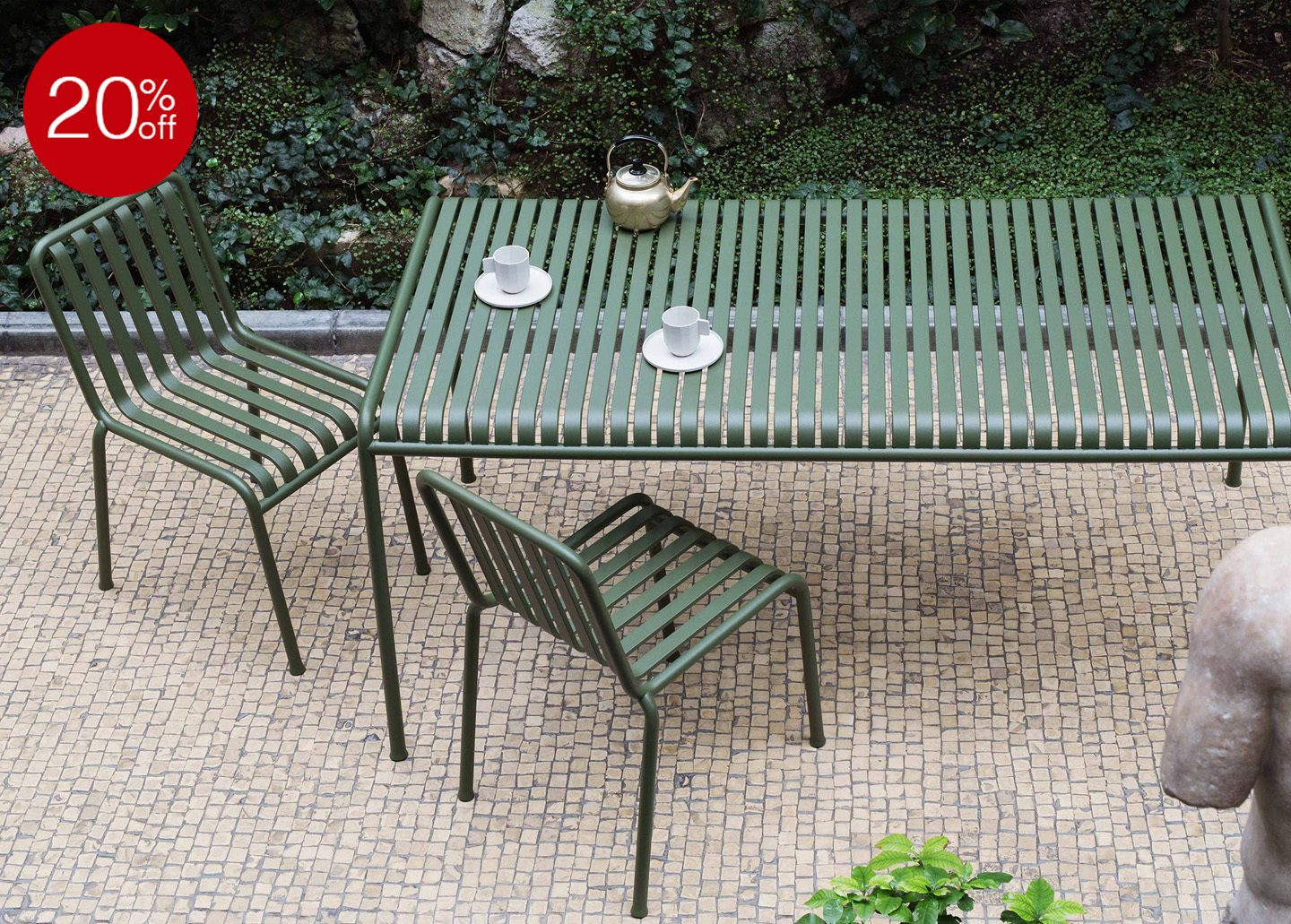 20% OFF PALISSADE CHAIR OLIVE BY HAY