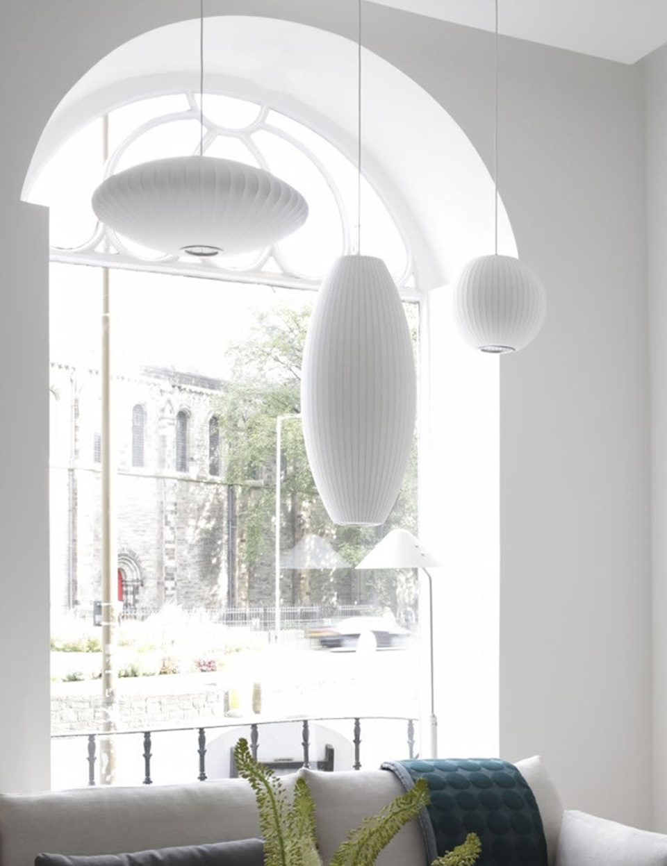 SCP GEORGE NELSON BUBBLE PENDANT LAMPS