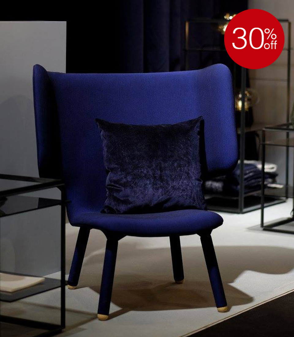 30% OFF TEMBO LOUNGE CHAIR BLUE INK BY NEW WORKS