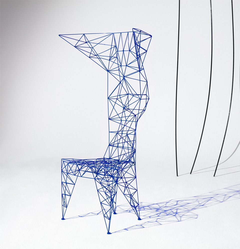 PYLON CHAIR BLUE BY TOM DIXON