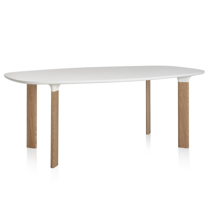 Analog Table White Laminate